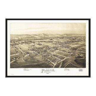 Vista aérea de llanos, Pennsylvania (1892) Impresión En Lienzo