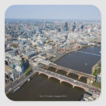 Vista aérea de Londres Calcomanía Cuadradas