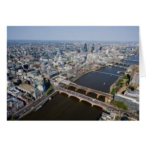 Vista aérea de Londres Felicitacion