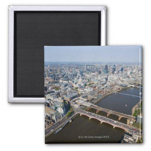 Vista aérea de Londres Imán De Frigorifico