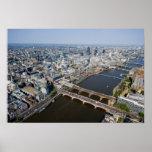 Vista aérea de Londres Póster
