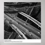 Vista aérea de Los Ángeles de Ansel Adams Póster