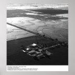 Vista aérea de los campos del arroz de Ansel Adams Posters