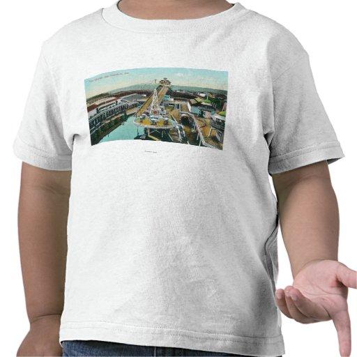 Vista aérea de los canales inclinados camiseta