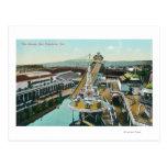 Vista aérea de los canales inclinados tarjetas postales