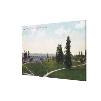 Vista aérea de los cuarteles de Vancouver Impresión De Lienzo