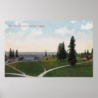 Vista aérea de los cuarteles de Vancouver Póster