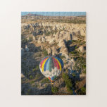 Vista aérea de los globos del aire caliente, puzzles