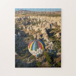 Vista aérea de los globos del aire caliente, puzzles con fotos