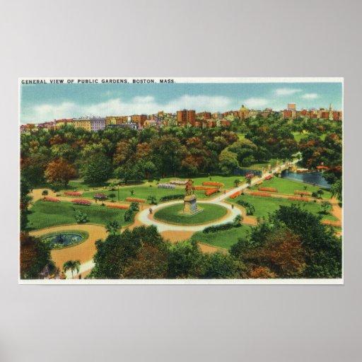 Vista aérea de los jardines públicos # 2 posters