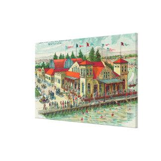 Vista aérea de Luna Park Caf� y Natatorium Lona Envuelta Para Galerias