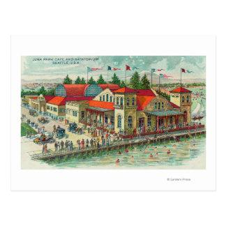 Vista aérea de Luna Park Caf� y Natatorium Postal