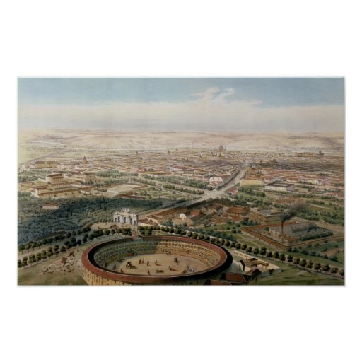 Vista aérea de Madrid de la plaza de Toros Impresiones