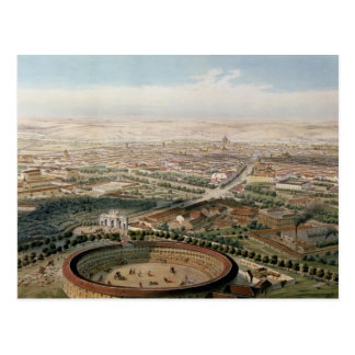 Vista aérea de Madrid de la plaza de Toros Postal