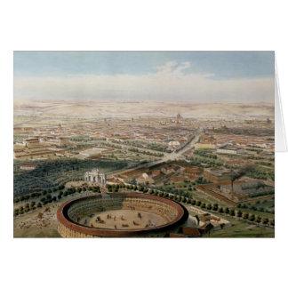 Vista aérea de Madrid de la plaza de Toros Tarjeta De Felicitación