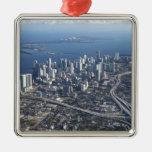 Vista aérea de Miami Ornamento De Navidad