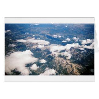 Vista aérea de montañas rocosas tarjeta de felicitación