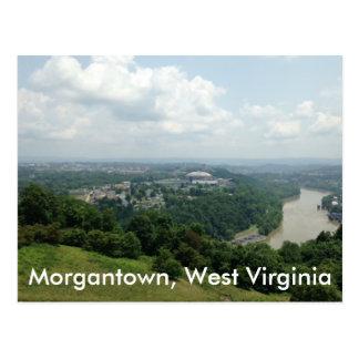 Vista aérea de Morgantown WV, postales del río de