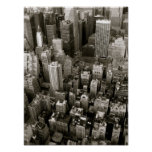 Vista aérea de New York City Impresiones