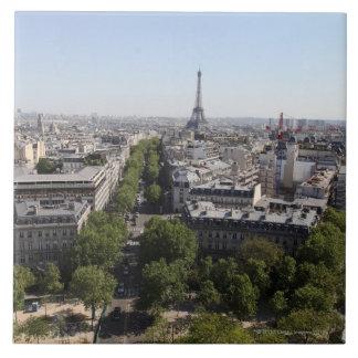 vista aérea de PARÍS 2 Azulejo Cuadrado Grande