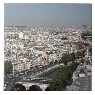 vista aérea de PARÍS Azulejo Cuadrado Grande