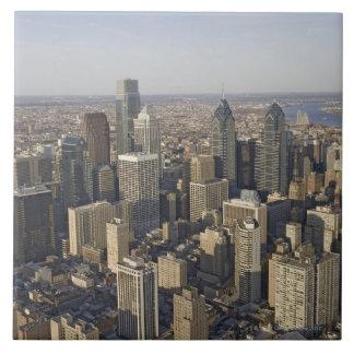 Vista aérea de Philadelphia, Pennsylvania Azulejo Cuadrado Grande