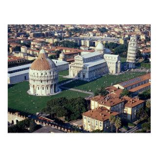 Vista aérea de Pisa, Italia Postal