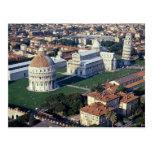 Vista aérea de Pisa, Italia Tarjetas Postales