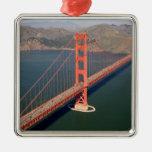 Vista aérea de puente Golden Gate en los 2 Ornamento De Navidad