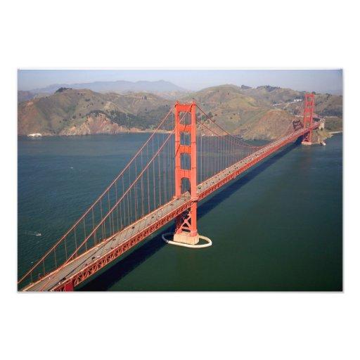 Vista aérea de puente Golden Gate en los 2 Arte Fotográfico
