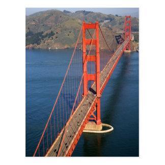 Vista aérea de puente Golden Gate en Postal