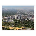Vista aérea de Salt Lake City céntrico, Utah Tarjeta Postal