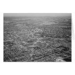 Vista aérea de San Antonio, 1939 Tarjeta Pequeña