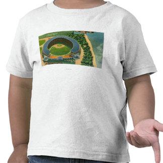Vista aérea de StadiumCleveland municipal OH Camiseta