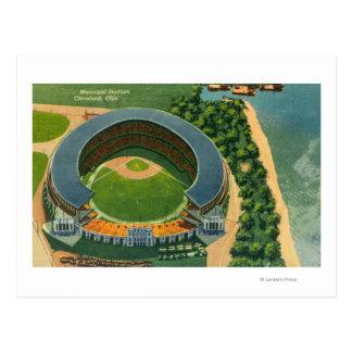 Vista aérea de StadiumCleveland municipal, OH Postal