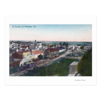 Vista aérea de una porción de CityModesto CA Postales