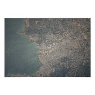 Vista aérea del área del Port-au-Prince de Haití Cojinete