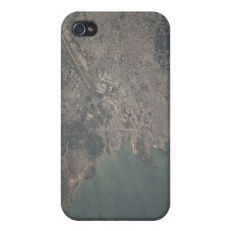 Vista aérea del área del Port-au-Prince de Haití iPhone 4 Coberturas