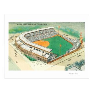 Vista aérea del campo # de 3Chicago, IL de Wrigley Tarjeta Postal