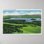 Vista aérea del campo de golf del mesón de Saranac Posters