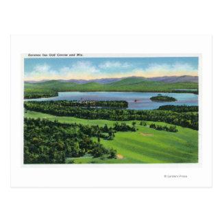Vista aérea del campo de golf del mesón de Saranac Postales
