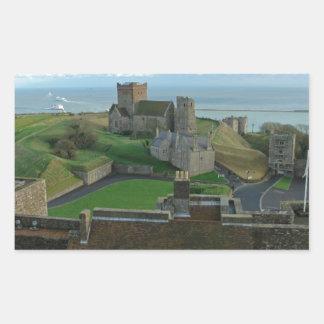 Vista aérea del castillo de Dover Rectangular Pegatina