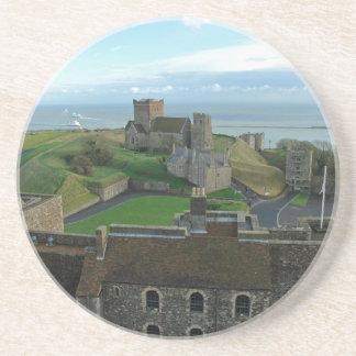 Vista aérea del castillo de Dover Posavasos Cerveza