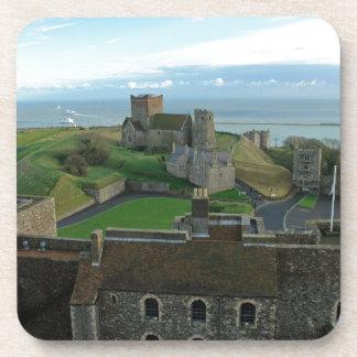 Vista aérea del castillo de Dover Posavasos