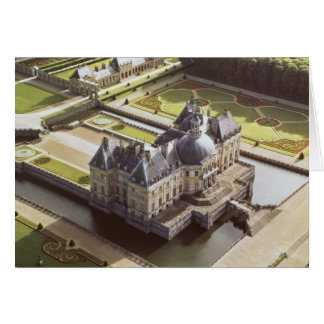 Vista aérea del castillo francés, diseñada para Ni Tarjeta