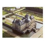 Vista aérea del castillo francés, diseñada para Ni Postal