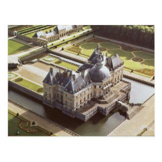 Vista aérea del castillo francés, diseñada para postal