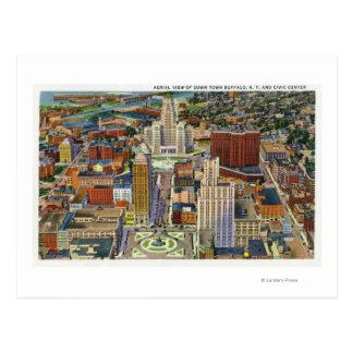 Vista aérea del centro de la ciudad y del centro m tarjeta postal