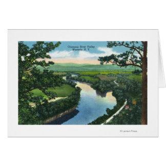 Vista aérea del Chemung River Valley Tarjeta De Felicitación