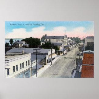 Vista aérea del CityAntioch, CA Póster